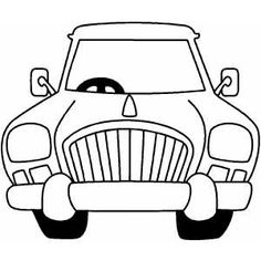 Truck Front Profile Coloring Page