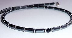 Mens Necklace - Necklace for Men - Handcrafted Gemstone Necklace - Black Onyx,Hematite,Silver 925 - Tribal Chic Jewelry