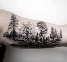 #Tattoo by @turan.art #⃣#Equilattera #tattoos #tat #tatuaje #tattooed #tattooart #tattoolife #tattoodesign #miamitattoo #miami #mia #florida #awesome #life #love #nature #ink #art #design #amazing #illustration #blackwork #dotwork #linework #landscape #trees #tree #forest