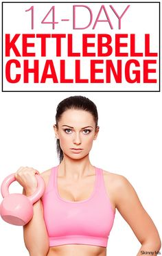 Spice up your workout routine with kettlebells! Begin this 14 Day Kettlebell Challenge tomorrow. Spice up your workout routine with kettlebells! Fitness Workouts, Fitness Herausforderungen, Fitness Goals, At Home Workouts, Fitness Motivation, Health Fitness, Fast Workouts, Body Workouts, Workout Routines