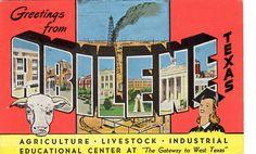 Abilene TX Postcard