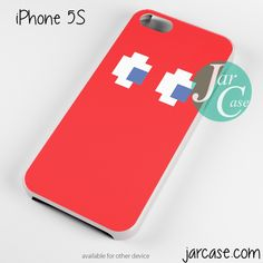 red pacman Phone case for iPhone 4/4s/5/5c/5s/6/6 plus