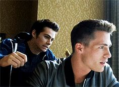 Colton Haynes and Dylan O'Brien Teen Wolf Stiles Teen Wolf, Teen Wolf Boys, Teen Wolf Dylan, Teen Wolf Cast, Colton Haynes Teen Wolf, Teen Wolf Memes, Teen Wolf Funny, Sterek, Dylan O'brien