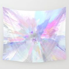 Abstract lavender and mint with hot pink tapestry
