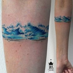 waves armband by Rodrigo Tas, Sao Paulo, Brazil | small tattoos