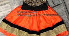 indian kids dresses, latest indian kids dresses, kids dresses for sale Kids Lehenga, Lehenga Designs, Kid Styles, Dresses For Sale, Indian, Orange, Children, Skirts, Black