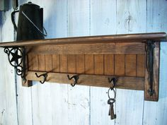 Western Coat Rack Shelf Handmade Furniture