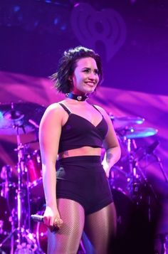 Demi performs at KISS 108 Jingle Ball in Boston