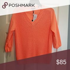 Ted Baker hot orange sweater! Pics don't do color justice. It is a bright orange and super pretty. NWT. Ted Baker London Sweaters