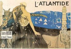 L'Atlantide 1920, French movie poster (lithograph) by Manuel Orazi.