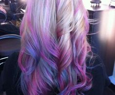 Purple and Blonde Hair.