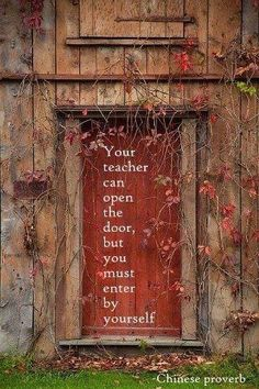 Učitelj ti može otvoriti vrata...