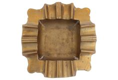 Scalloped Brass Ashtray
