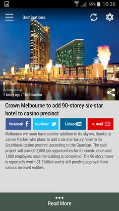 Download the FREE #Born2Invest Android app to get the full scoop and many more business news summaries. #skyline #melburne #luxuryhotel #sixstar #casino