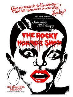 Vintage Theatre Poster - Rockey Horror Show - The Beautiful Belasco - Broadway - New York