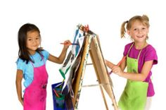 DIY children's easel.  Easy and fun Christmas present.