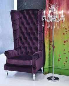 Attrayant Baroque High Back Chair   Purple Chair. Ultra Violet Purple Is 2018 Color  Of The Year