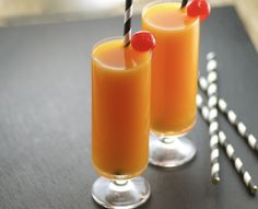 One sip, and youll be transported to a tropical beach.  This delightful cocktail features a peach base and just the right hint of ginger and a touch of evaporated milk that adds a creamy finish.   For the peach puree (step #1), I used half of a 15-ounce can of sliced peaches, and it worked out well.