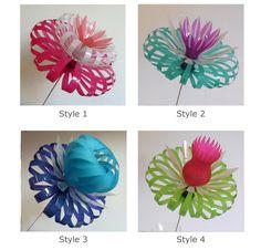 Plastic Bottle Flowers by SarahTurnerEcoDesign on Etsy