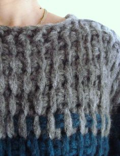 kneema-project: chunky tunisian crochet stitch