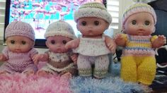 Four various outfirts. Baby Patterns, Doll Patterns, Clothing Patterns, Girl Dolls, Baby Dolls, Knitting Paterns, Lady Fingers, Big Knits, Bitty Baby