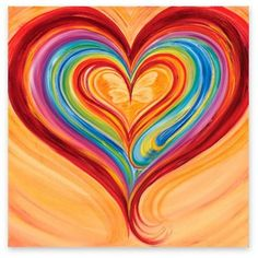 Love heart prophetic art painting with a butterfly in middle, how neat.