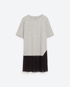 Imagem 6 de T-SHIRT COMBINADA TULE da Zara