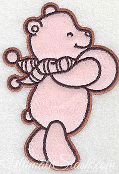 Bear with ball applique