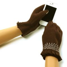 New Ladies Winter Fancy Bling Bling Elegant Dressy Thick Wool Soft Lining Magic Touch Screen Smartphone Thumb Index Technology Glove Outdoor Indoors Gloves with 2ply wrist with ruffles Magic Touch Glove for Tablet PC, Ipods, Ipads, Iphones, Laptops, Touchscreens, PDA and so much more New Technology, it's amazing! Keep your glove on and adjust your electronic devices. Warm and Comfortable Super soft & warm 100% wool with soft lining...