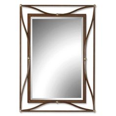 Uttermost Thierry Double Scratched Bronze Framed Beveled Mirror