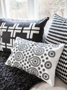 textiles blanco y negro
