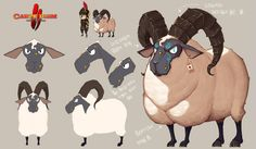 Ram animal character design #art
