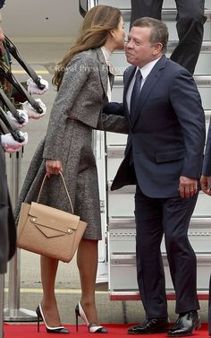 King Abdullah and Queen Rania arrived in Belgium for a State Visit