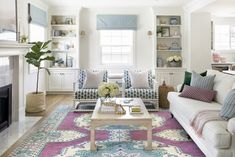 beautiful living room by Bria Hammel Interiors