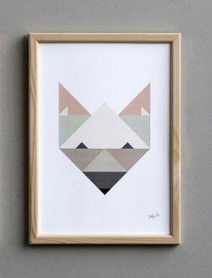 Silke Bonde Print Fox | Posters | Buiten de Lijntjes