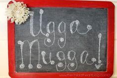 Child at Heart: Daniel Tiger Birthday Party + 2 Free Printables Daniel Tiger Ugga Mugga Chalkboard