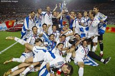 Greek soccer team champions of Euro cup 2004 Portugal, Brian Wilson, Architecture People, Greek Culture, Rugby World Cup, European Championships, Football Team, Soccer Teams, Sports Teams