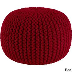 Orient Celebration Hand Knitted Pure Cotton Braid Pouf (