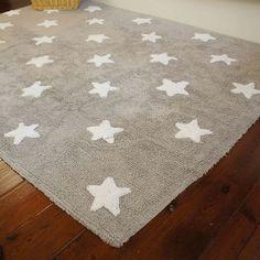 Alfombra Lorena Canals Gris con estrellas blancas