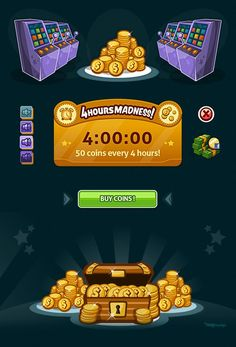 Slots Social Game | GUI Design by Naida Jazmín Ochoa, via Behance: