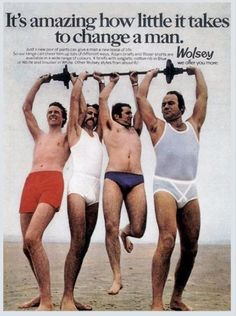 27 Vintage Men's Underwear Ads From the 1970s That Are Cringeworthy
