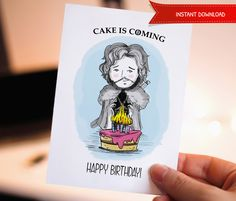 Funny happy birthday birthday card printable birthday card 30off funny happy birthday printable birthday card game of thrones jon bookmarktalkfo Image collections