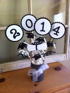 2015 Graduation Center Piece Decor Gift by PaperGalore on Etsy