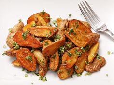 Crispy Potatoes with Garlic-Parmesan Butter