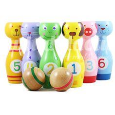juego de bati juguetes de madera para nios bolos para nios con una gran variedad de formas