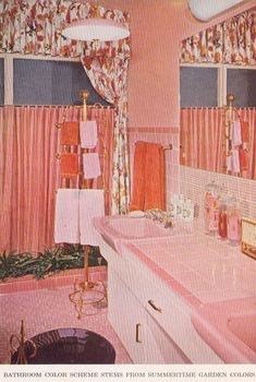 1956: A Good Year for Pink Bathrooms  rust pink