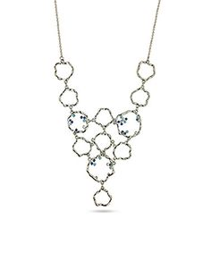 Loving this Capri Blue Crystal & Silver Circles Bib Necklace on #zulily! #zulilyfinds