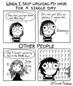 Life can be so unfair. | Read Sarah's Scribbles #comics @ http://www.gocomics.com/sarahs-scribbles/2015/07/22?utm_source=pinterest&utm_medium=socialmarketing&utm_campaign=social | #GoComics #webcomic
