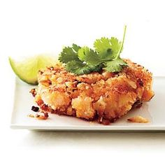 Dried coconut, fresh ginger, fish sauce, and a couple of dashes of Sriracha lend Asian flavor to Thai Shrimp Cakes.