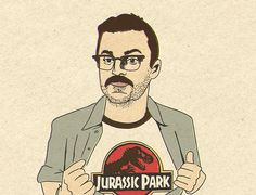 This guy in Jurassic World was the highlight of the film for me  -- Lowery Jurassic World art print by Kate Gabriel